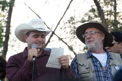 Free Activists Julian Lebaron And Javier Sicilia Royalty Free Stock Photography - 24271347