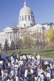 Activists marching at State Capitol Building, Missouri Stock Photos