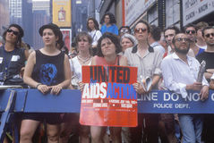 Activists participating in AIDS rally, Royalty Free Stock Images