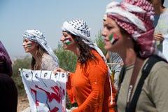 Activists protest Israeli wall Royalty Free Stock Photo