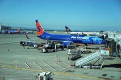 Activité aéroportuaire de Portland photos stock