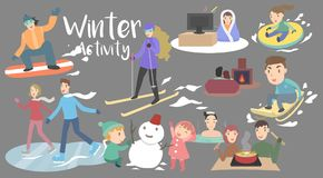 Activité d'hiver illustration stock
