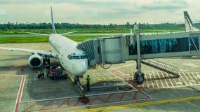 Activité dans l'aéroport Concept de voyage et de transport Photos libres de droits
