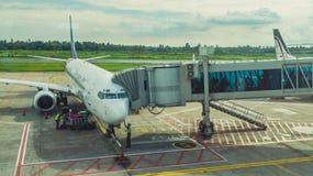 Activité dans l'aéroport Concept de voyage et de transport Photographie stock