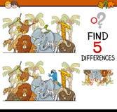 Activité de différences pour des enfants illustration stock