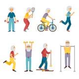 Activité de personnes âgées de vecteur Photos libres de droits