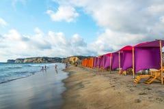 Activité de plage de Canoa Photographie stock libre de droits