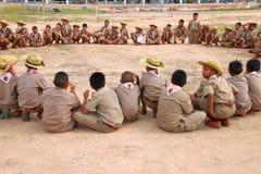 Activité de scout photo stock