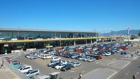 Activité en dehors de l'aéroport international d'EL Dorado dans la ville de Bogota Image libre de droits