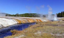 Activité géothermique au parc national de Yellowstone, Wyoming images libres de droits