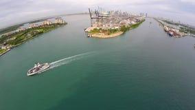 Activité industrielle Miami Beach 4k banque de vidéos