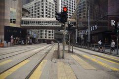 Activité mobile sur la scène de rue passante dans la ville Image stock