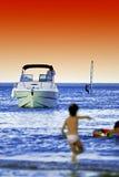 Activités de bord de la mer Image libre de droits