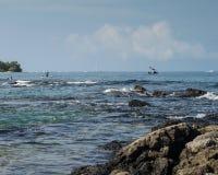 Activités de côte d'Hawaï Photo stock