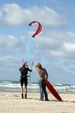 Activités de plage : cerf-volant Photographie stock