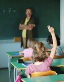 Activités de pupille dans la salle de classe Images stock