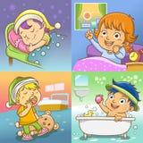 Activités quotidiennes illustration stock