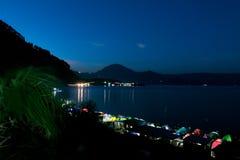 Activités 1000 tentes au bord du lac Toba image libre de droits