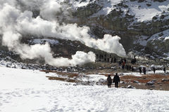 Activité volcanique au Hokkaido, Japon Images libres de droits