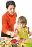 Activiteit in kleuterschool Stock Foto's