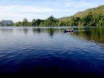 Activiteit op het meer Stock Foto's