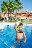Activiteiten op de pool Royalty-vrije Stock Afbeelding