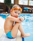 Activiteiten op de pool royalty-vrije stock fotografie