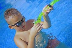 Activiteiten op de pool royalty-vrije stock afbeeldingen