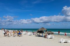 Activities on the beach, Cuba, Varadero Stock Photo
