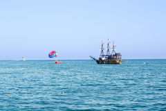 Activities on the coast of Turkey Stock Photography