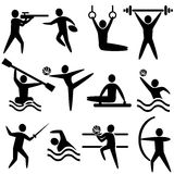 Activities Icons. Set of active sports icons: vector illustrations Stock Images