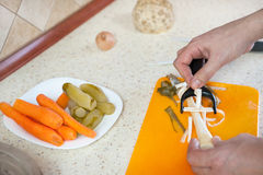 activities in the kitchen Stock Photography