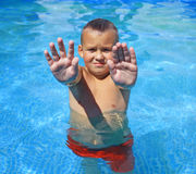 Activities on the pool royalty free stock image