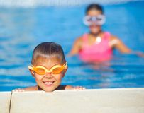 Activities on the pool Stock Photography