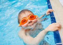 Activities on the pool Stock Image