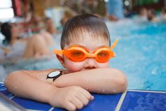 Activities on the pool Stock Photo