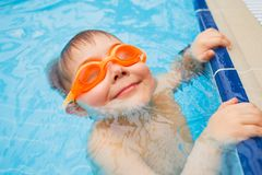 Activities on the pool Royalty Free Stock Photos