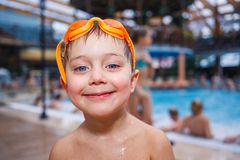 Activities on the pool Royalty Free Stock Images
