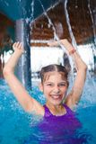 Activities on the pool. Cute girl in swimming pool Stock Photography