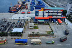 Activities in the port of Tanjung Priok Port Royalty Free Stock Photography