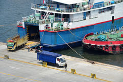 Activities in the port of Tanjung Priok Port Royalty Free Stock Photos