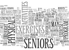 Activities For Seniors Should Aim For Physical Fitness Word Cloud. ACTIVITIES FOR SENIORS SHOULD AIM FOR PHYSICAL FITNESS TEXT WORD CLOUD CONCEPT Stock Photos