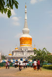 Activities of Thai people in Magha Puja Day Royalty Free Stock Photo