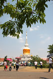 Activities of Thai people in Magha Puja Day Royalty Free Stock Photos
