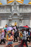 Activities of Thai people in Magha Puja Day Stock Images
