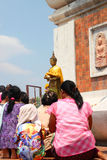 Activities of Thai people in Magha Puja Day Stock Photography