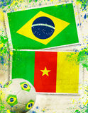 2014, activity, against, algeria, background, ball, brasil, braz Royalty Free Stock Photos