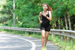 Activity beauty women runing. Activity beauty woman runing in morning Stock Images