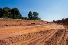 Activity, Construction Industry, Road Construction, Working, Thailand royalty free stock images