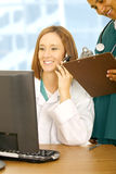 Activity Of Doctor Close Up Stock Photo